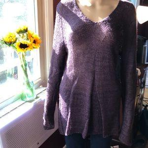 ColdWater Creek purple tunic sweater